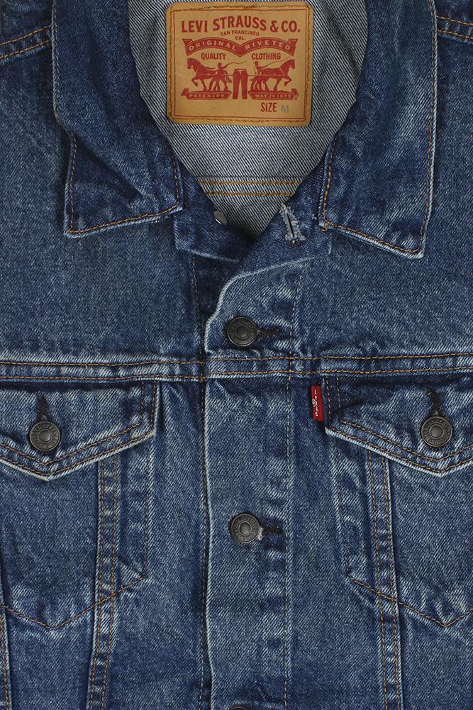 Levi-039-s-Men-039-s-Regular-Fit-Button-Up-Cut-Off-Denim-Trucker-Vest thumbnail 5