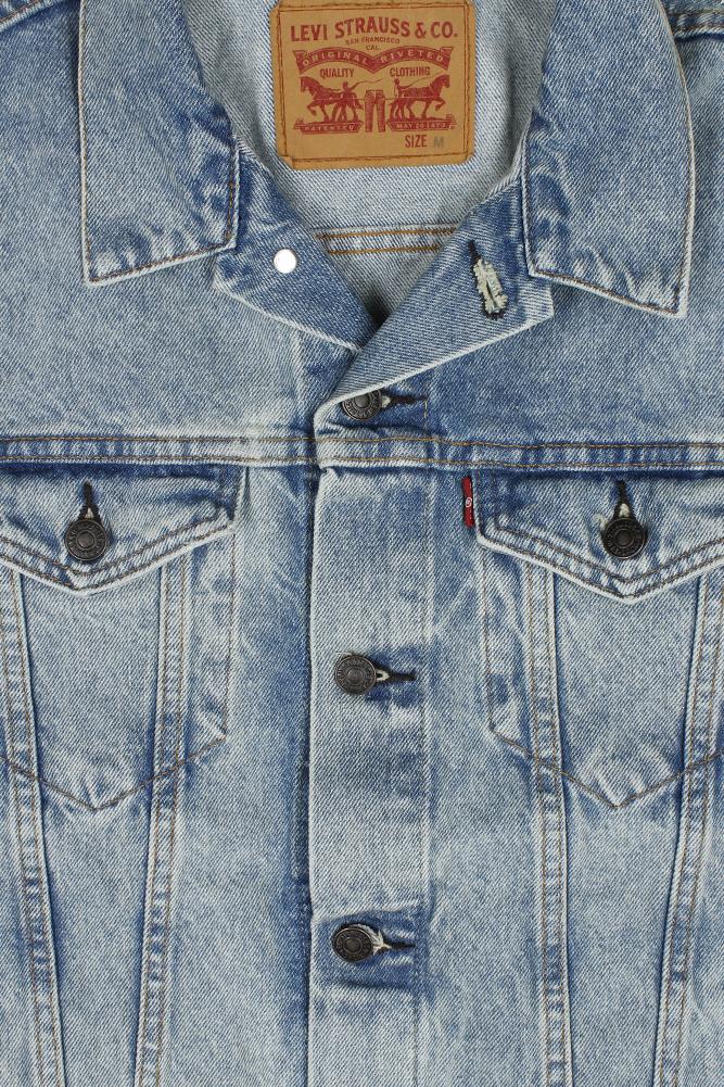 Levi-039-s-Men-039-s-Regular-Fit-Button-Up-Cut-Off-Denim-Trucker-Vest thumbnail 8