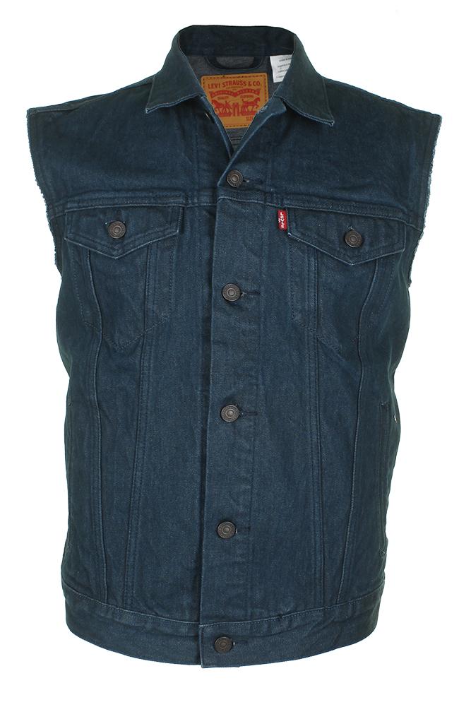 Levi-039-s-Men-039-s-Regular-Fit-Button-Up-Cut-Off-Trucker-Vest thumbnail 7