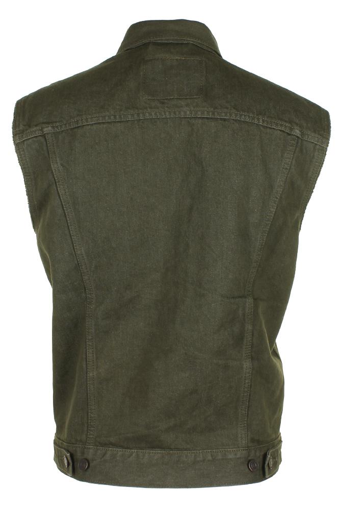 Levi-039-s-Men-039-s-Regular-Fit-Button-Up-Cut-Off-Trucker-Vest thumbnail 10