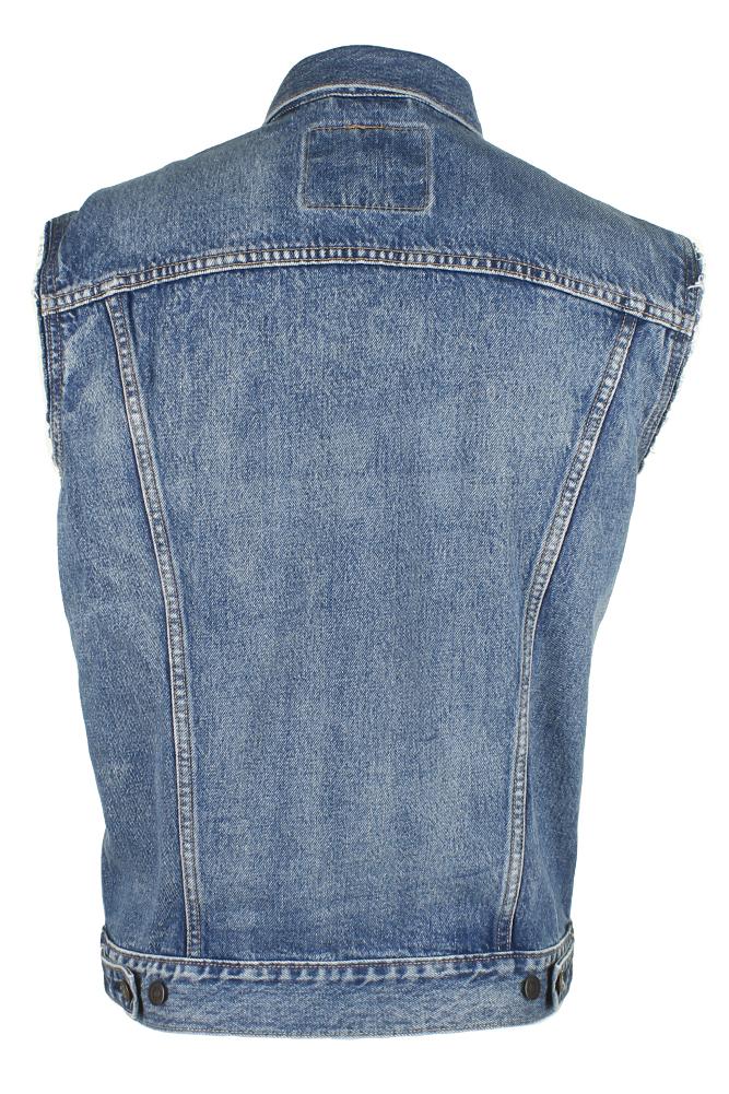 Levi-039-s-Men-039-s-Regular-Fit-Button-Up-Cut-Off-Trucker-Vest thumbnail 13