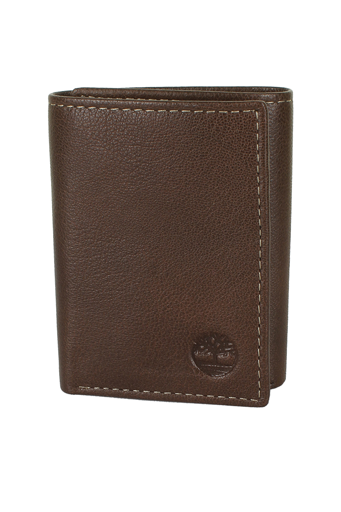 Timberland-Men-039-s-Natural-Grain-Leather-Trifold-Wallet thumbnail 6