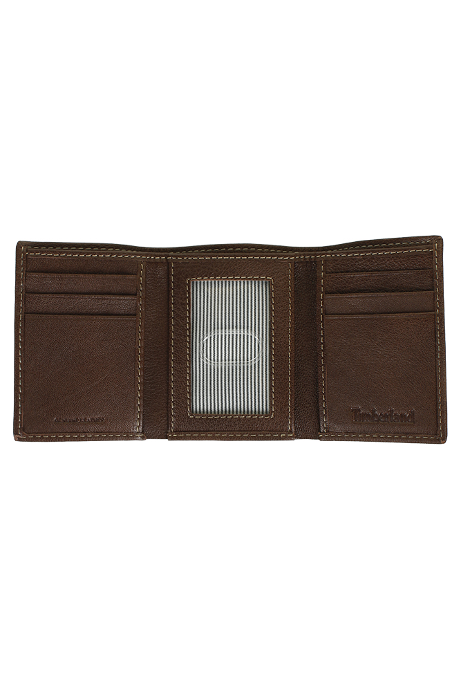 Timberland-Men-039-s-Natural-Grain-Leather-Trifold-Wallet thumbnail 7