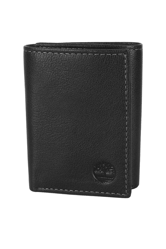 Timberland-Men-039-s-Natural-Grain-Leather-Trifold-Wallet thumbnail 3