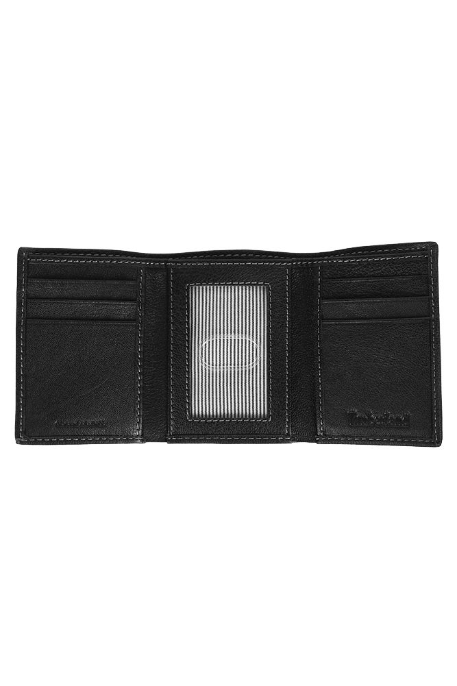 Timberland-Men-039-s-Natural-Grain-Leather-Trifold-Wallet thumbnail 4