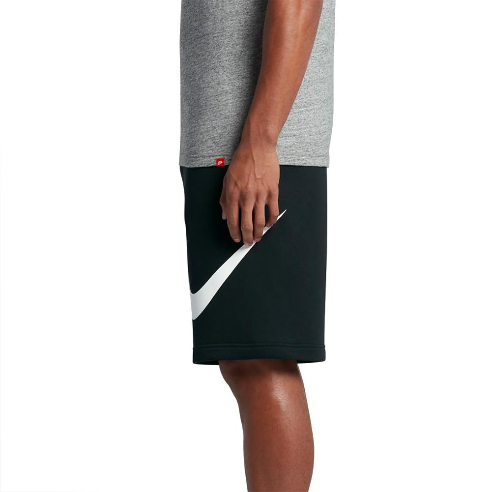 Nike-Men-039-s-Athletic-Wear-Graphic-Swoosh-Standard-Fit-Club-Fleece-Shorts thumbnail 3