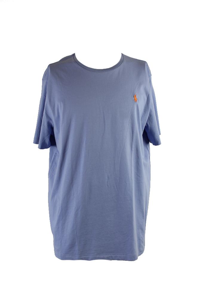 58c5a12e Details about Polo Ralph Lauren Blue Custom-Fit Crew Neck T-Shirt XL