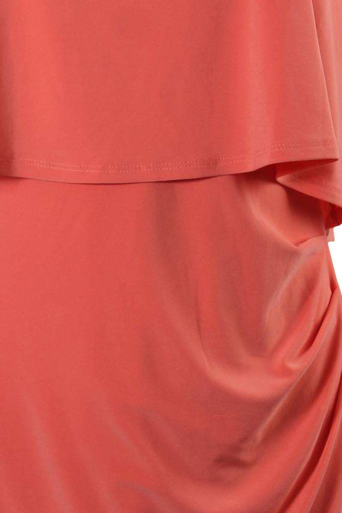 Lauren Ralph Lauren Layered Jersey Sheath Dress-ORANGE POPPY