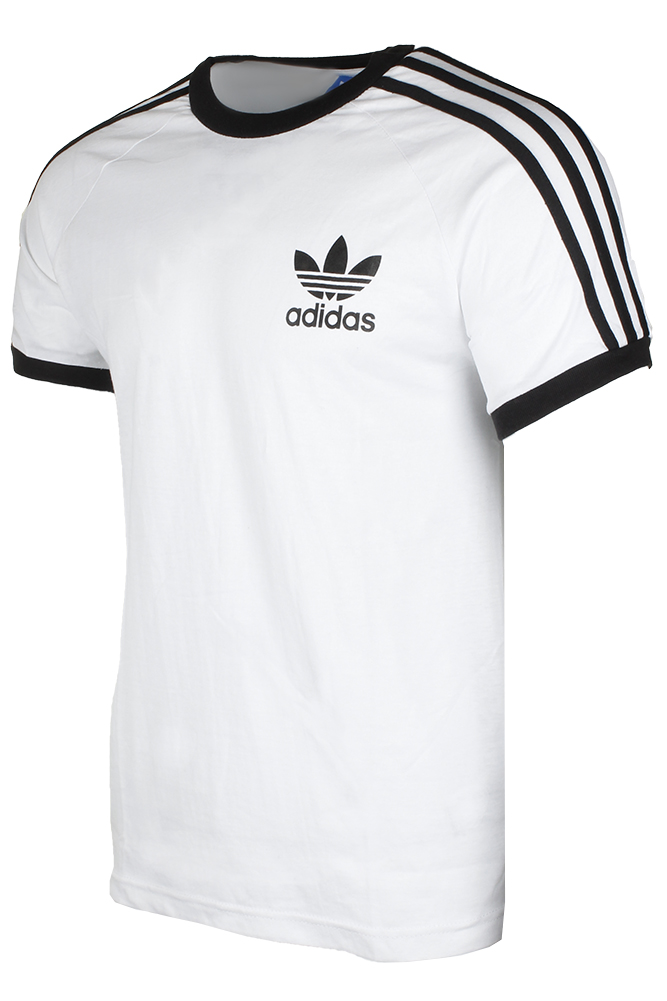 Adidas-Men-039-s-Original-Short-Sleeve-3-Stripe-Essential-California-T-Shirt thumbnail 16