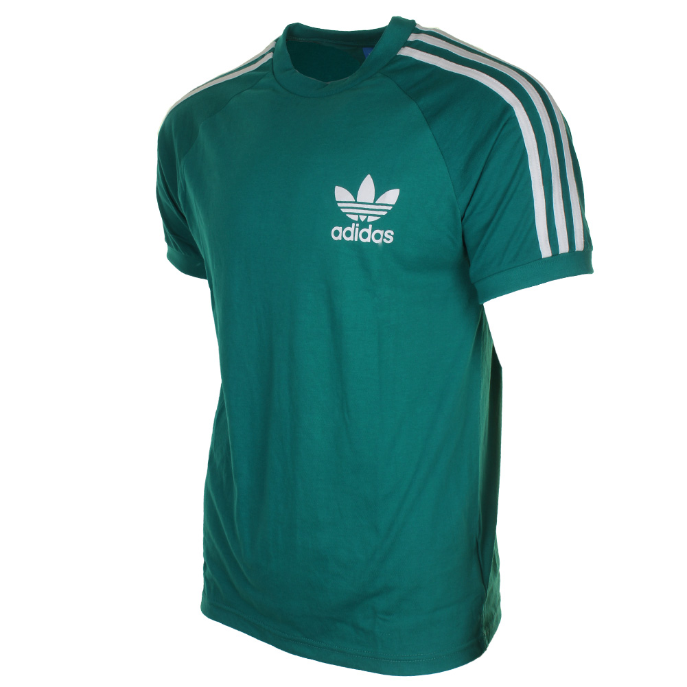 Adidas-Men-039-s-Original-Short-Sleeve-3-Stripe-Essential-California-T-Shirt thumbnail 4