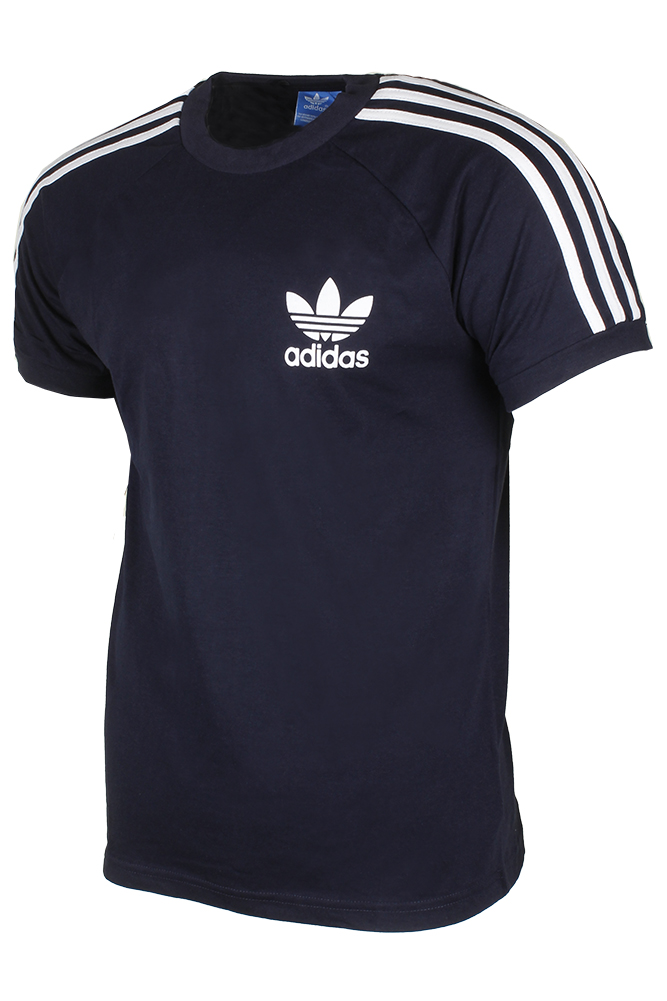Adidas-Men-039-s-Original-Short-Sleeve-3-Stripe-Essential-California-T-Shirt thumbnail 7
