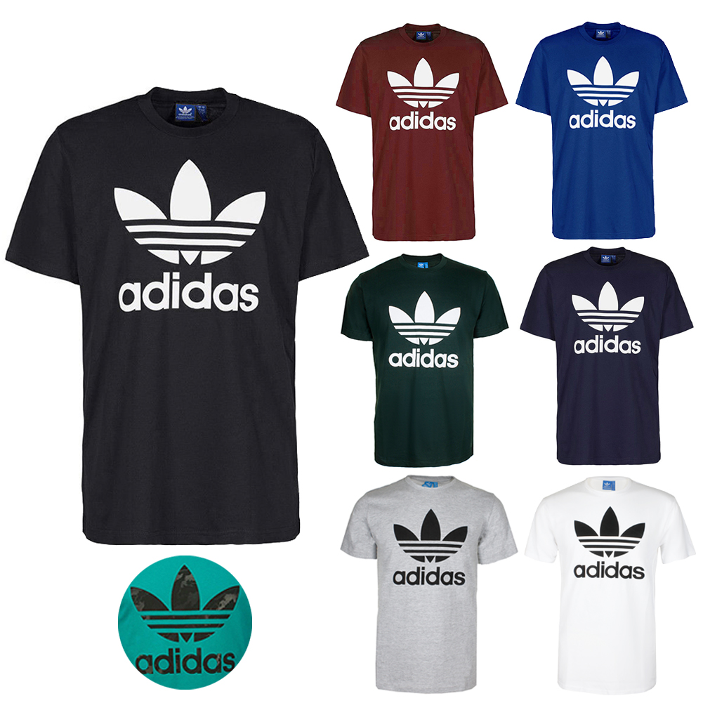c4cb4422953 Details about Adidas Men s Short-Sleeve Trefoil Logo Graphic T-Shirt