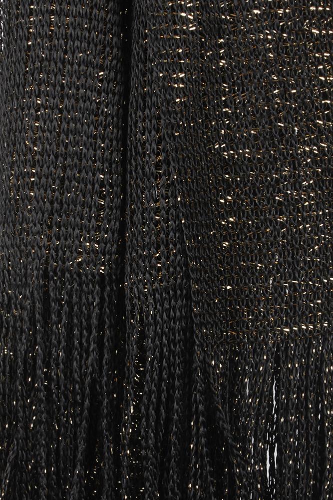 DBFL-Ladies-Metallic-Shimmery-Fringed-Mesh-Evening-Scarf thumbnail 10