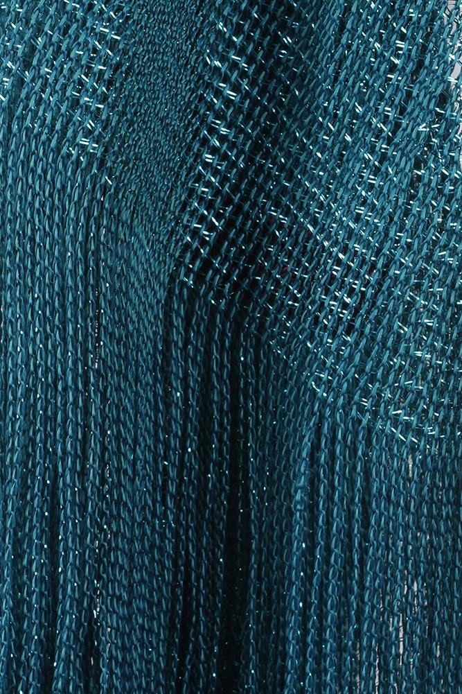 DBFL-Ladies-Metallic-Shimmery-Fringed-Mesh-Evening-Scarf thumbnail 73