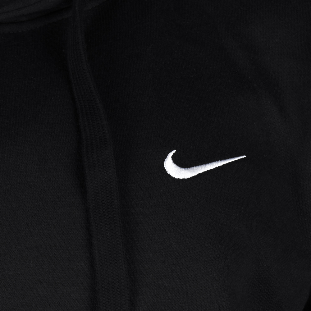 Nike-Men-039-s-Long-Sleeve-Embroidered-Swoosh-Fleece-Pullover-Hoodie thumbnail 4