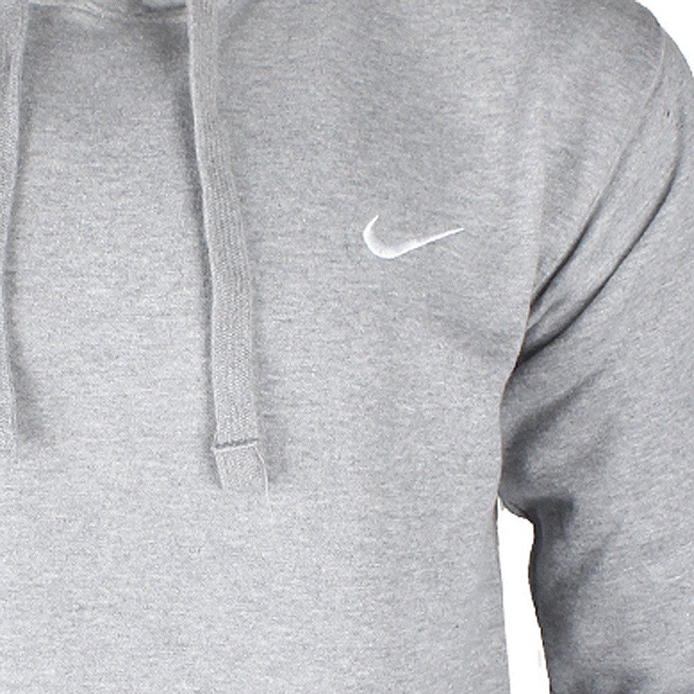 Nike-Men-039-s-Long-Sleeve-Embroidered-Swoosh-Fleece-Pullover-Hoodie thumbnail 7