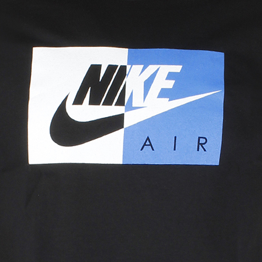 Nike-Air-Men-039-s-Athletic-Short-Sleeve-Color-Blocked-Logo-Gym-Graphic-T-Shirt thumbnail 4