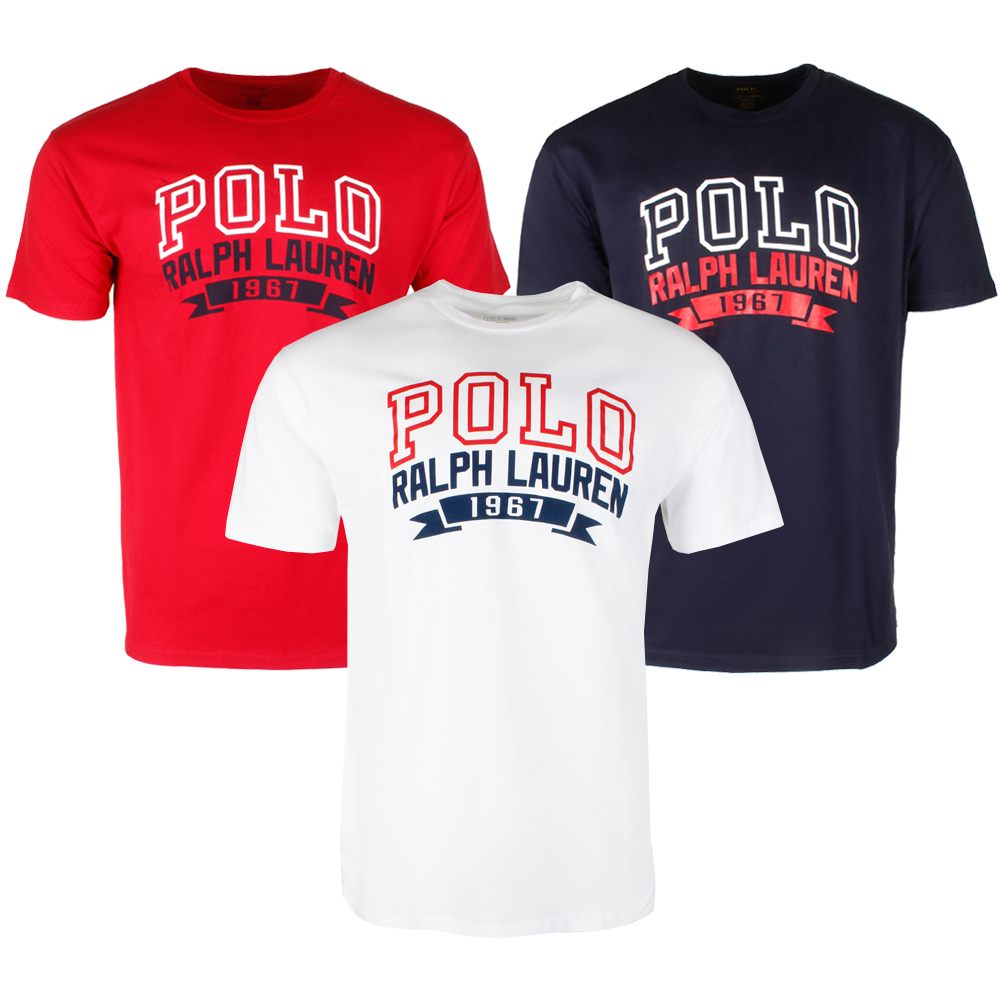608e9581ad Details about Polo Ralph Lauren Men's Short Sleeve 1967 Logo Graphic T-Shirt