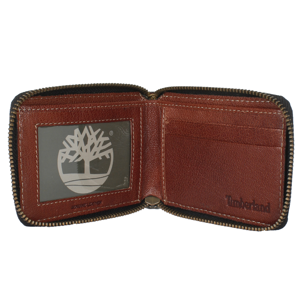 Timberland-Men-039-s-Genuine-Leather-Cavalieri-Zip-Around-Wallet thumbnail 5