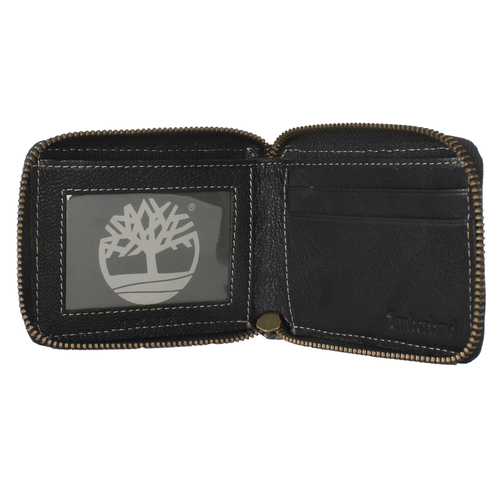 Timberland-Men-039-s-Genuine-Leather-Cavalieri-Zip-Around-Wallet thumbnail 3