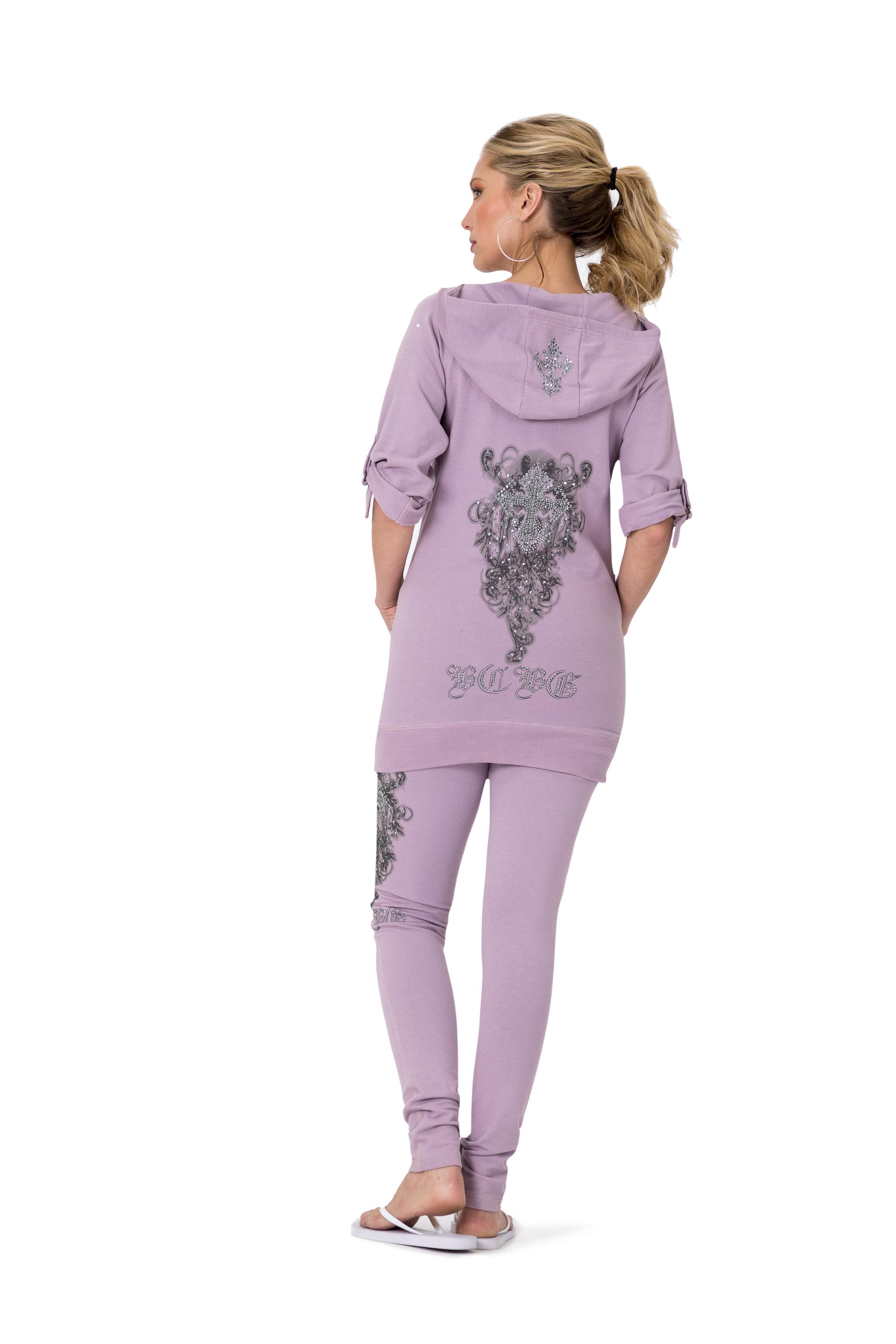 BCBG-Women-039-s-Lounge-Wear-2-Piece-Embellished-Jacket-and-Pants-Jogger-Set thumbnail 4