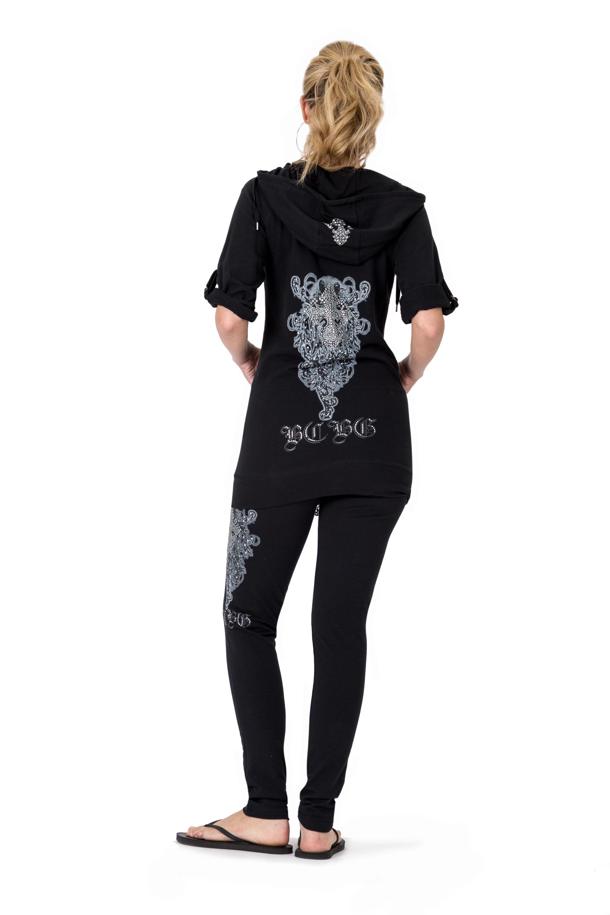 BCBG-Women-039-s-Lounge-Wear-2-Piece-Embellished-Jacket-and-Pants-Jogger-Set thumbnail 6