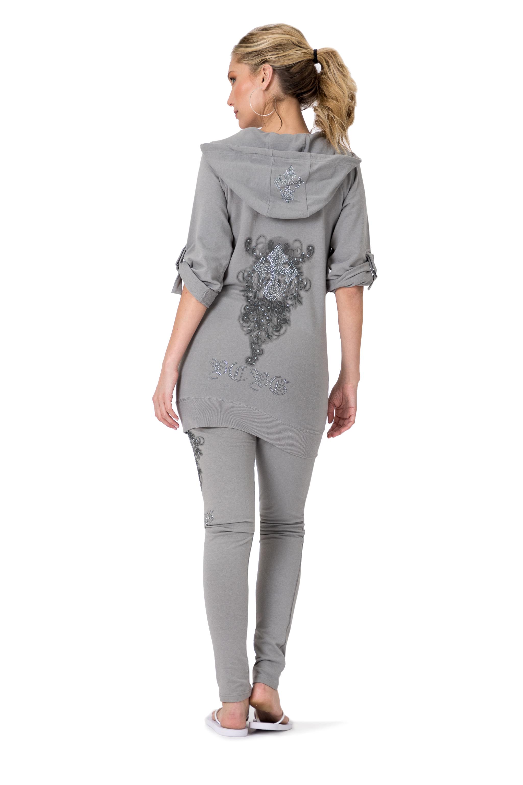 BCBG-Women-039-s-Lounge-Wear-2-Piece-Embellished-Jacket-and-Pants-Jogger-Set thumbnail 10