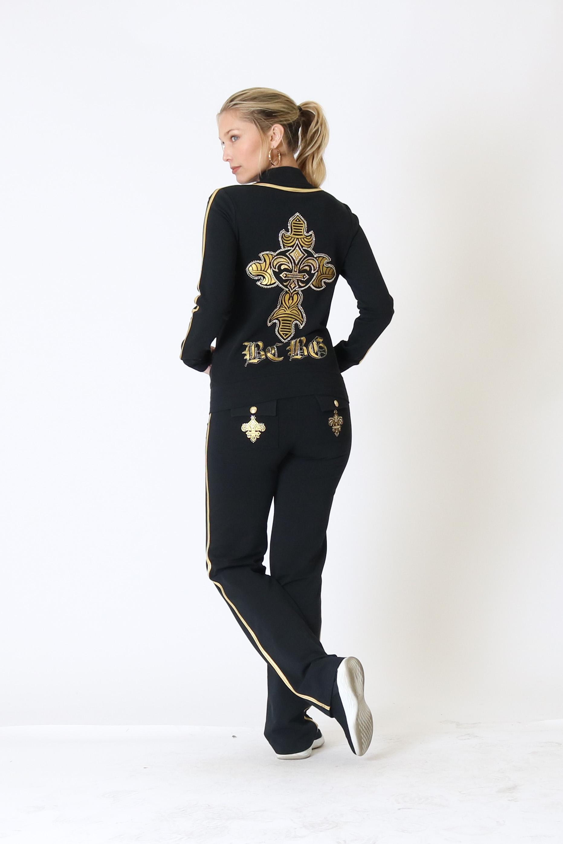 BCBG-Women-039-s-Lounge-Wear-2-Piece-Embellished-Jacket-and-Pants-Jogger-Set thumbnail 12
