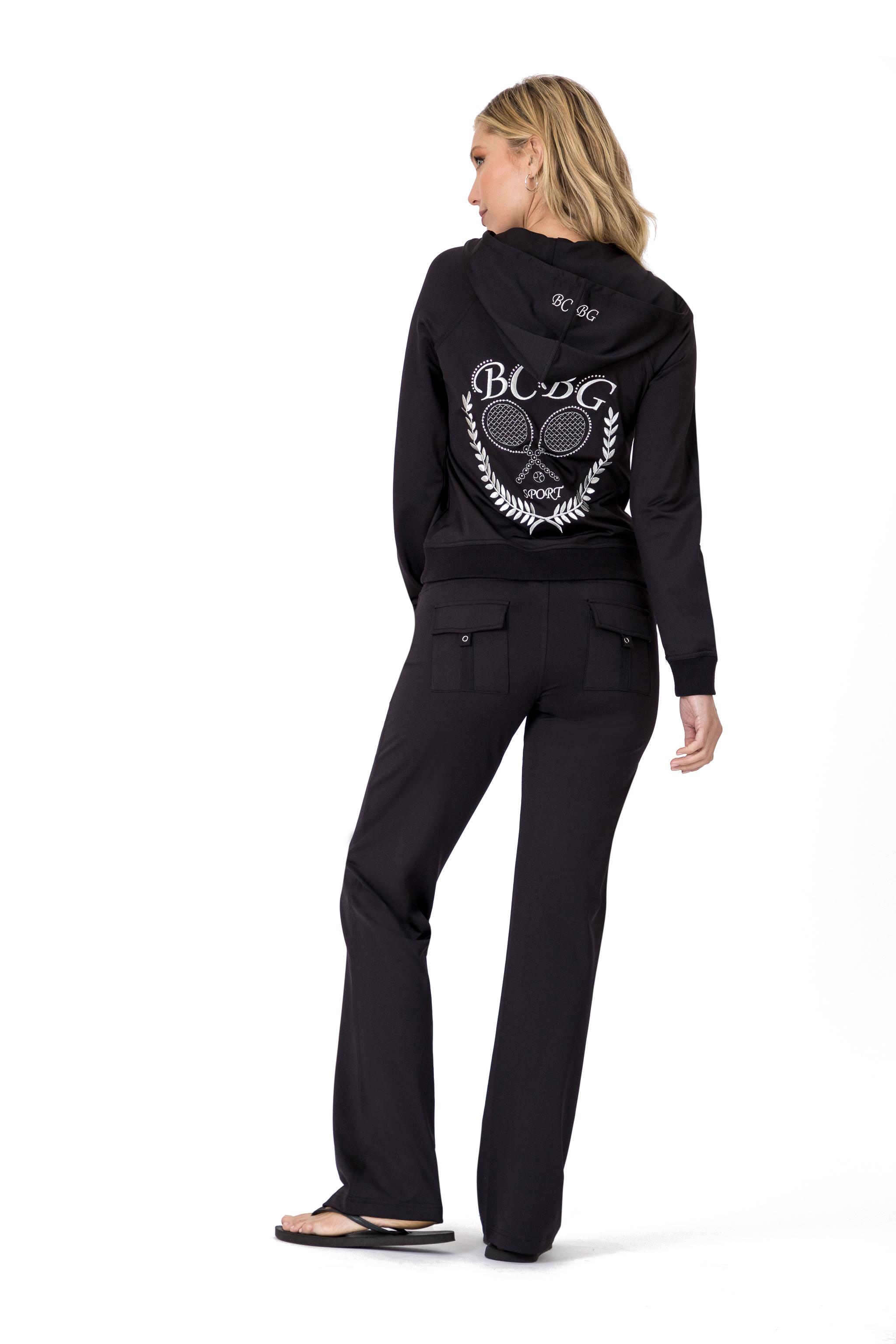 BCBG-Women-039-s-Lounge-Wear-2-Piece-Embellished-Jacket-and-Pants-Jogger-Set thumbnail 27