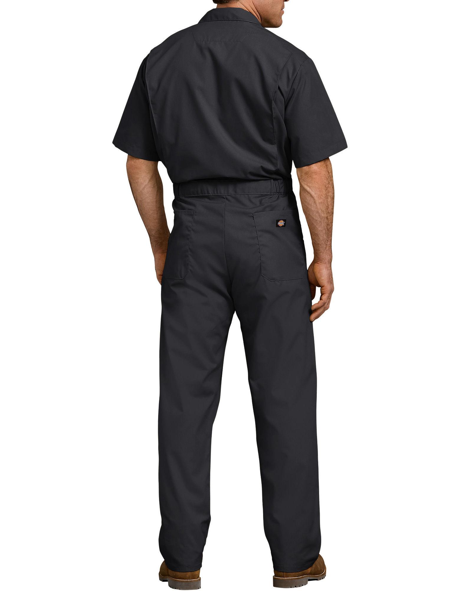 Dickies-Men-039-s-Short-Sleeve-Coveralls-Elastic-Waist-Work-Wear-Uniform thumbnail 3