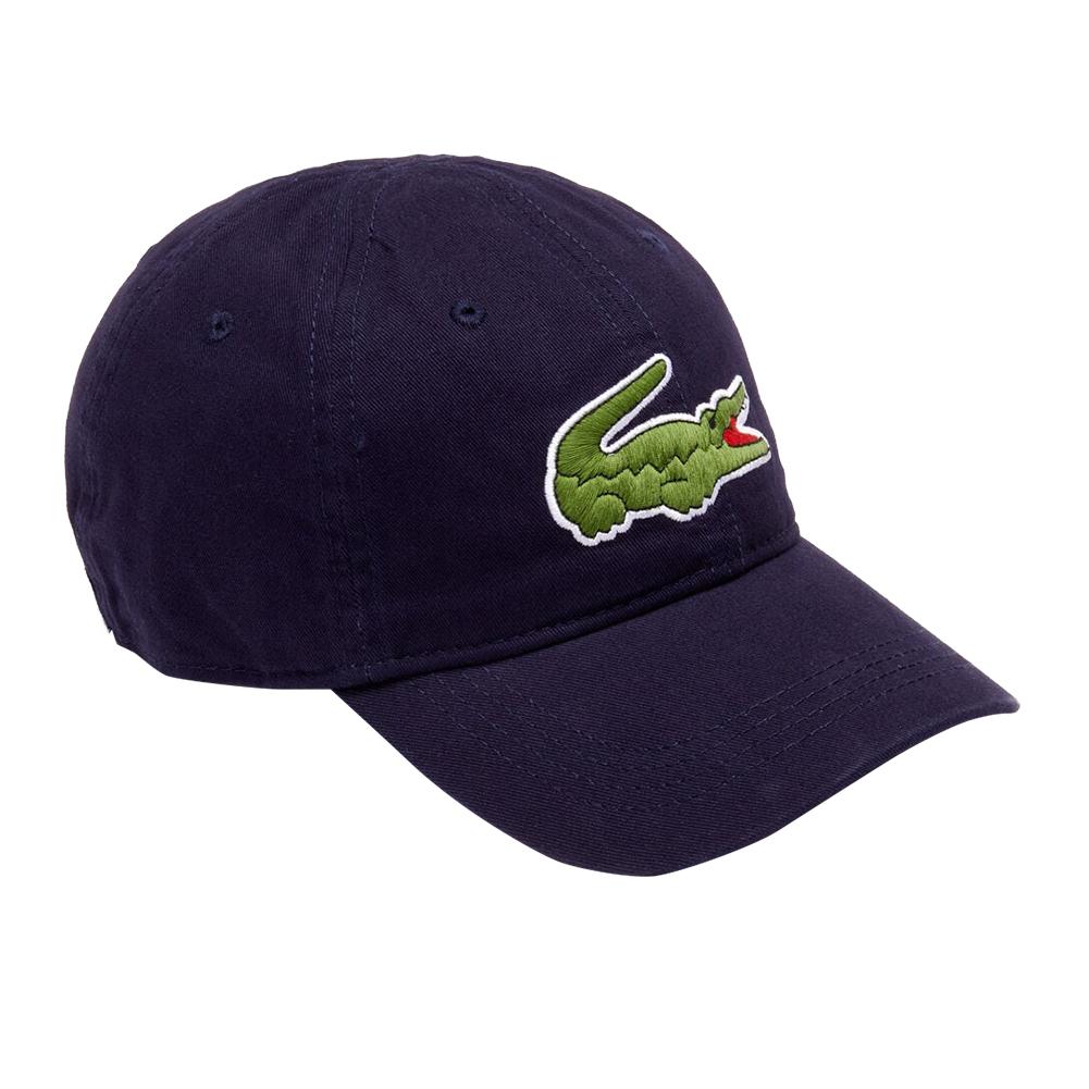 Lacoste-Homme-en-coton-brode-Big-Croc-Logo-Reglable-Chapeau-Bonnet miniature 6