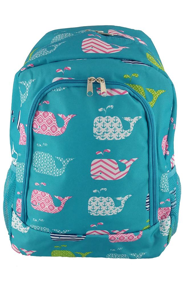 DBFL-Light-Weight-Adjustable-Shoulder-Strap-Elephant-Print-School-Backpack