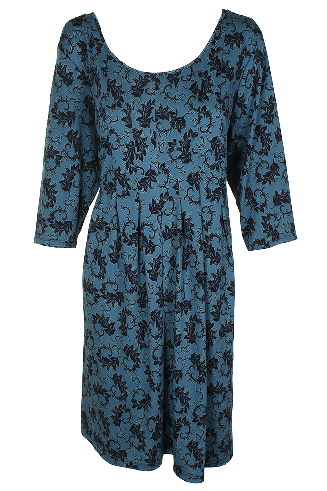 ab20fb05dbf Ny Collection Petite Plus Size Green 3 4-Sleeve Printed Calvin Pleated Dress  2XP