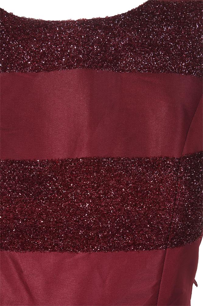 Tommy Hilfiger Burgundy Sleeveless Striped Textured