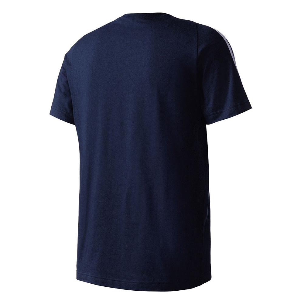 Adidas-Men-039-s-Short-Sleeve-Linear-3-Stripe-Essential-T-Shirt thumbnail 9