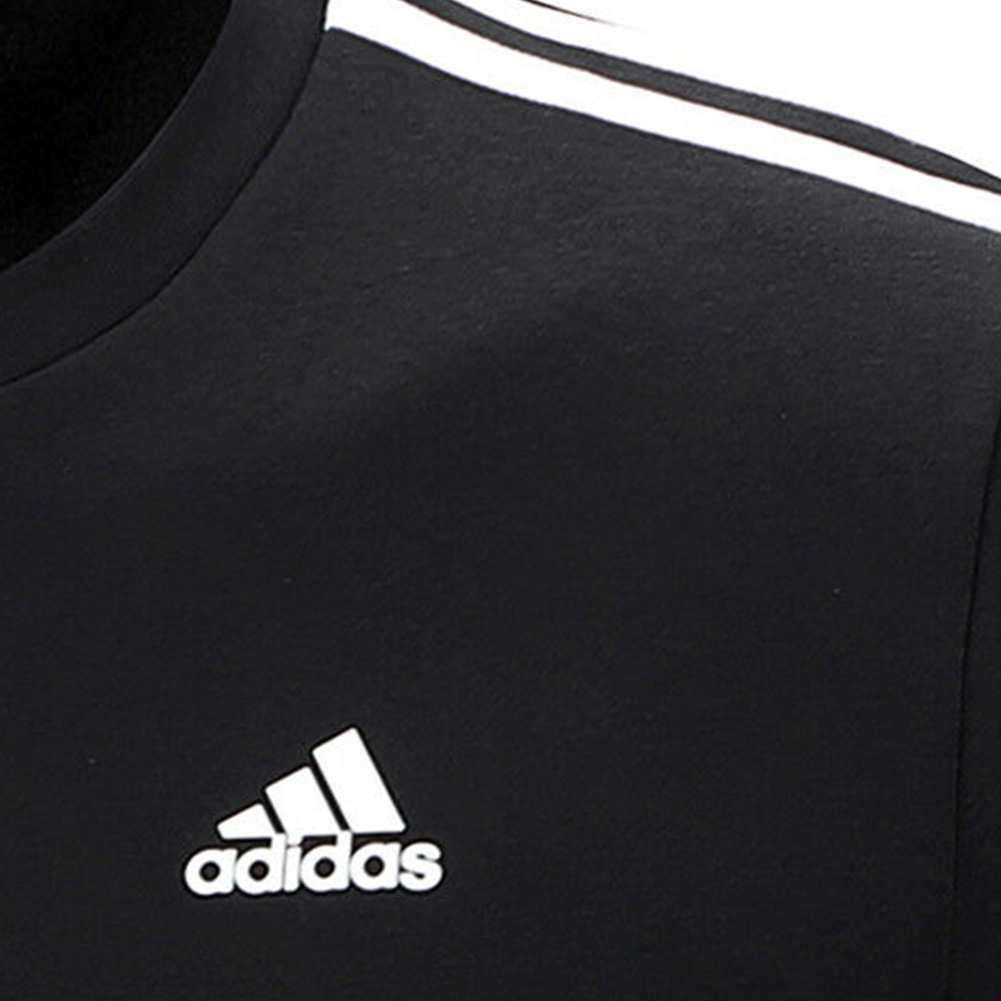 Adidas-Men-039-s-Crew-Neck-Essential-3-Stripe-Active-Pullover-Sweatshirt thumbnail 4
