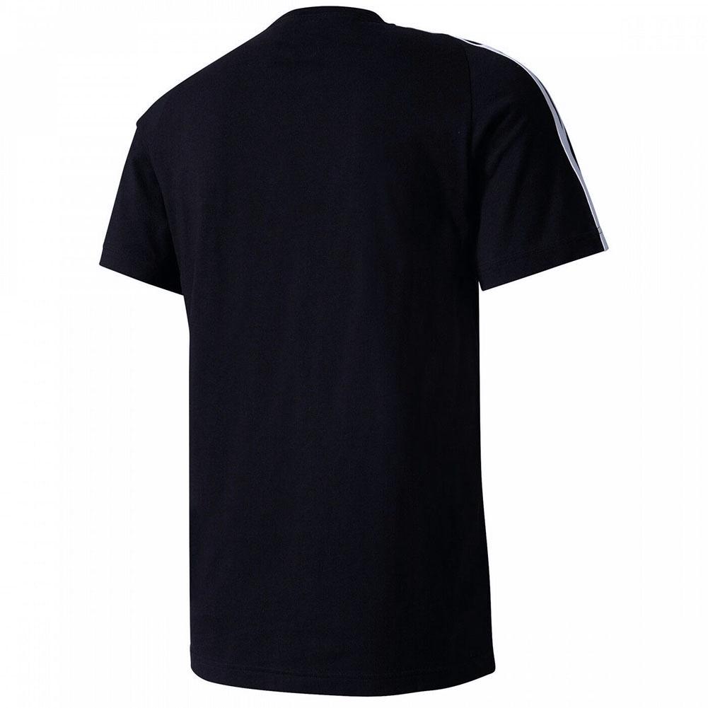 Adidas-Men-039-s-Short-Sleeve-Linear-3-Stripe-Essential-T-Shirt thumbnail 3