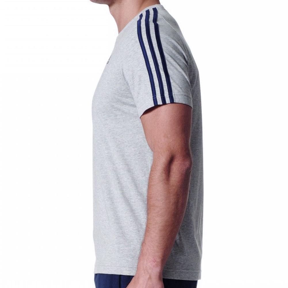 Adidas-Men-039-s-Short-Sleeve-Linear-3-Stripe-Essential-T-Shirt thumbnail 7
