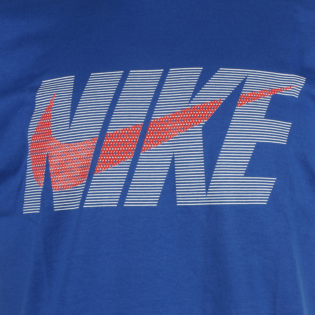 Nike-Men-039-s-Regular-Fit-Striped-Logo-Swoosh-Graphic-Active-T-Shirt thumbnail 4