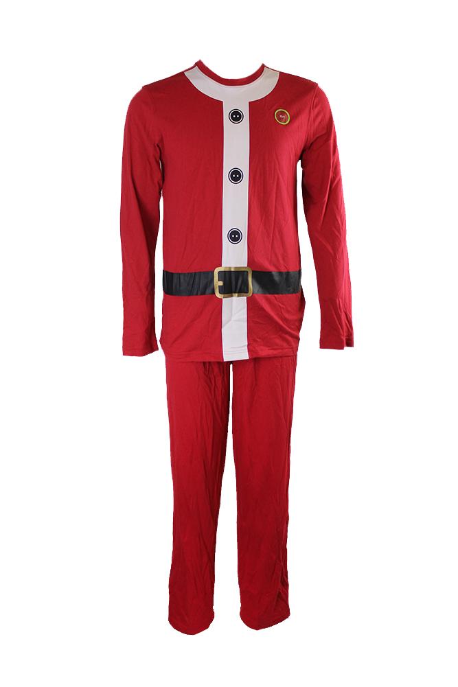 nuovo prodotto 14a86 0f8b1 Dettagli su Famiglia Pigiama Rosso Manica Lunga Vestito di Babbo Natale Set  Pigiama
