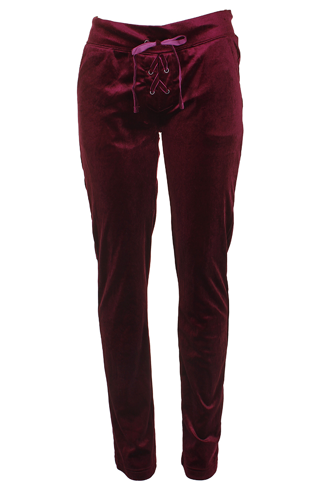 Carole Hochman Extra Brushed Tunic Pant Set Plum Berry 1X NEW A310273