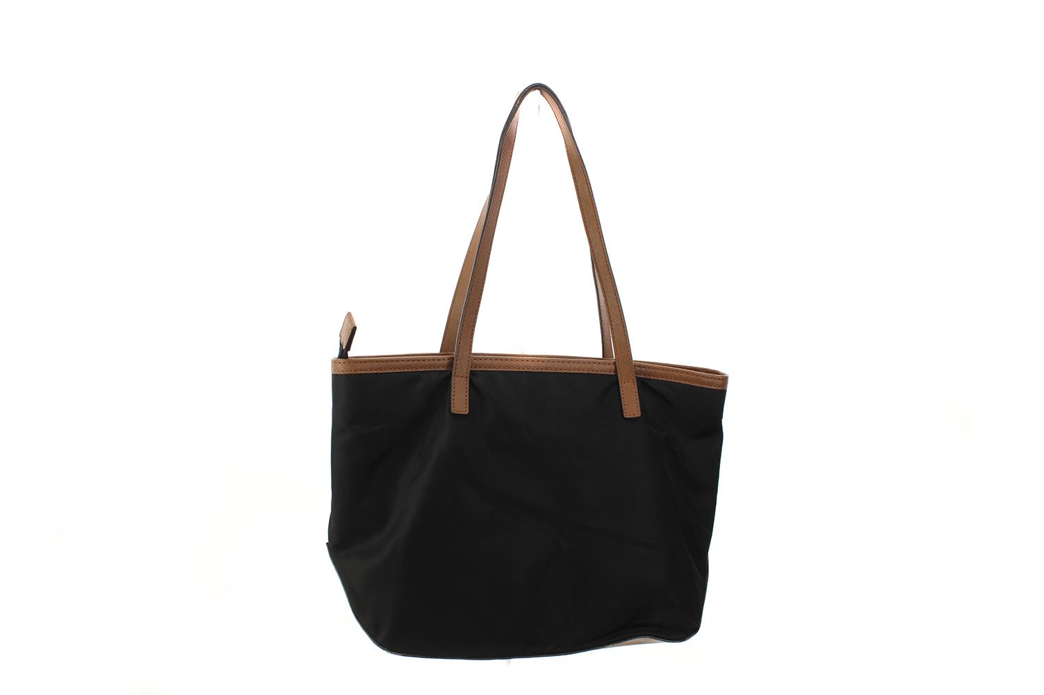 22fc42a2c6fa Michael Michael Kors Black Gold Kempton Nylon Small Tote Bag OS ...