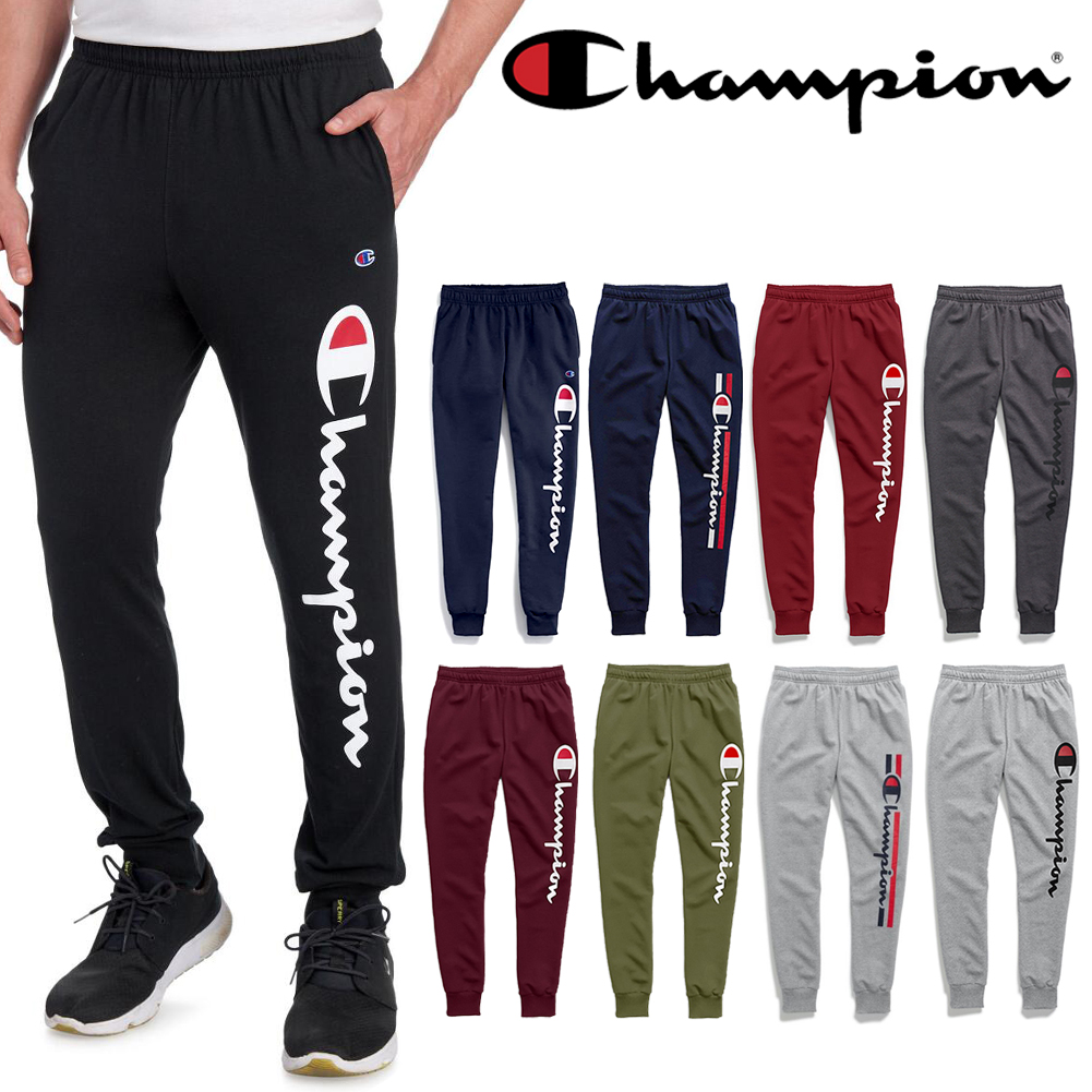 Champion Men's Script Logo Mid Rise Athletic Jogger Sweatpants Activewear