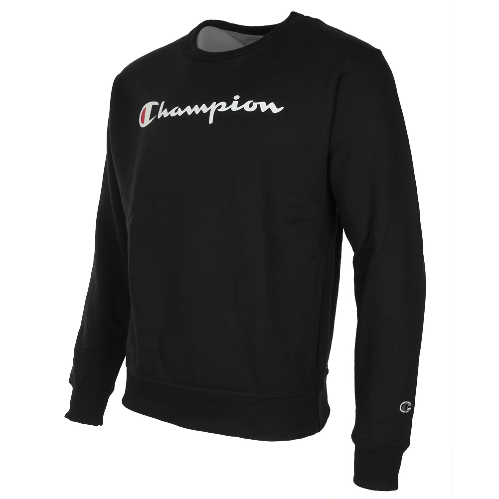 Champion-Men-039-s-Powerblend-Fleece-Crew-Neck-Script-Logo-Sweatshirt thumbnail 3