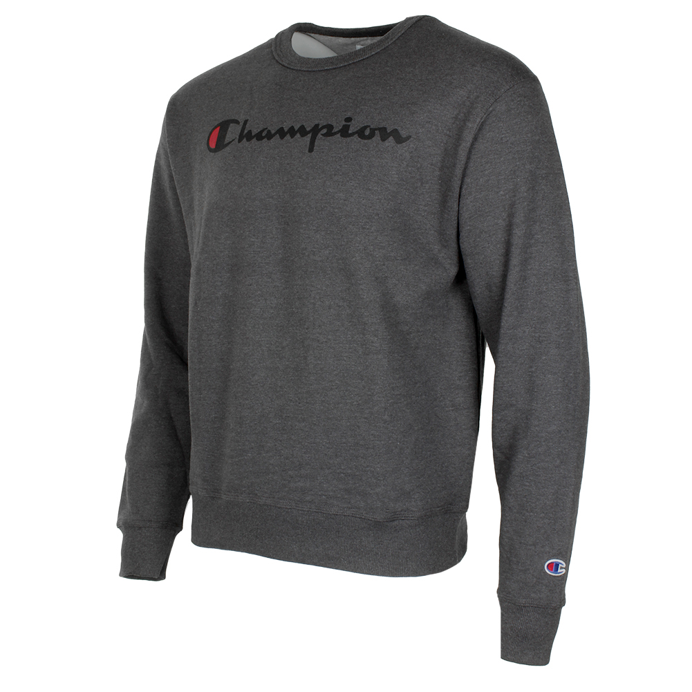 Champion-Men-039-s-Powerblend-Fleece-Crew-Neck-Script-Logo-Sweatshirt thumbnail 6