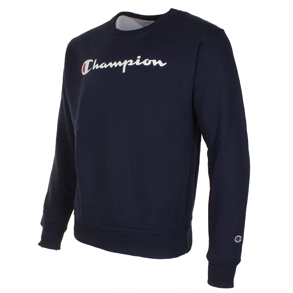 Champion-Men-039-s-Powerblend-Fleece-Crew-Neck-Script-Logo-Sweatshirt thumbnail 9