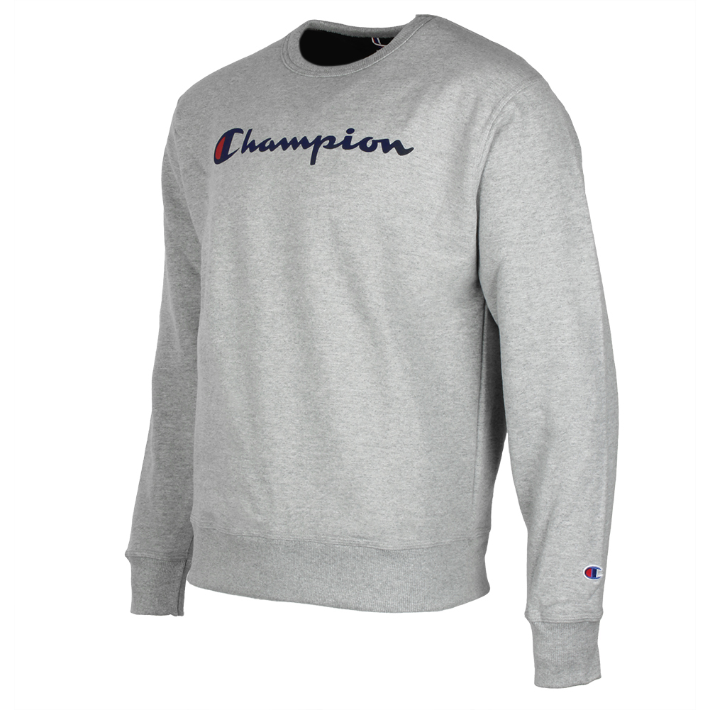 Champion-Men-039-s-Powerblend-Fleece-Crew-Neck-Script-Logo-Sweatshirt thumbnail 12
