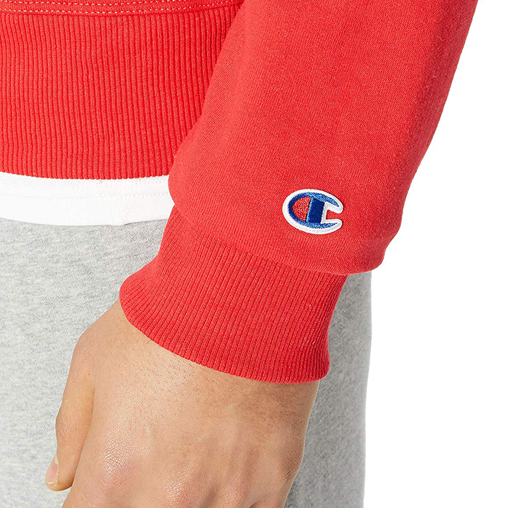 Champion-Men-039-s-Fleece-Sweatshirt-Powerblend-Long-Sleeve-Crew-Neck-Script-Logo thumbnail 16