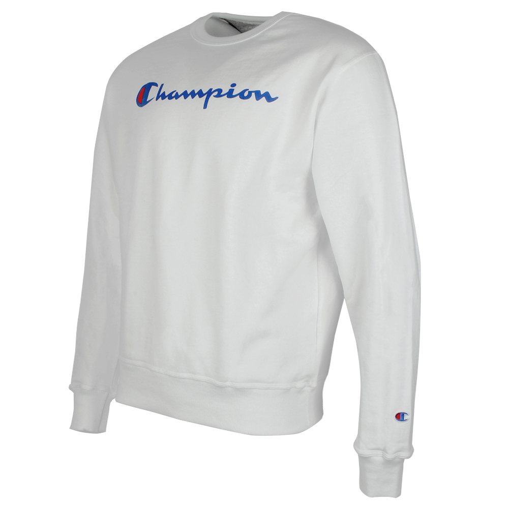 Champion-Men-039-s-Powerblend-Fleece-Crew-Neck-Script-Logo-Sweatshirt thumbnail 15