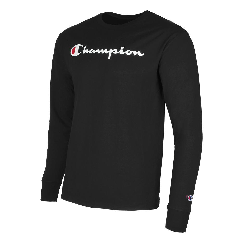 Champion-Men-039-S-Classic-Jersey-Script-Logo-Long-Sleeve-T-Shirt thumbnail 3